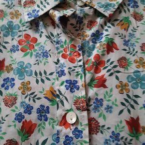 J Crew Liberty Print Shirt